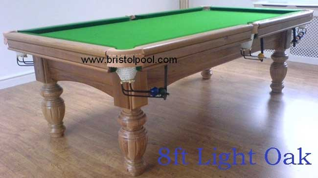 8ft Light Oak Snooker Table